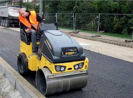 Rodillos tandem ligeros para construcción de carreteras, saneamiento y jardinería